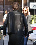 Orlando Bloom and Miranda Kerr Share a Kiss in LA