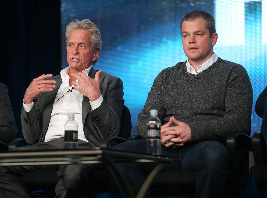 Michael Douglas and Matt Damon took the stage.