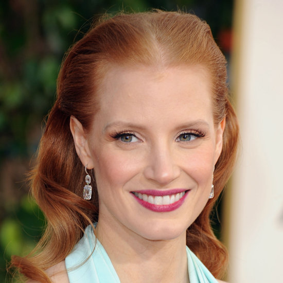 Jessica Chastain | Golden Globes Hair 2013