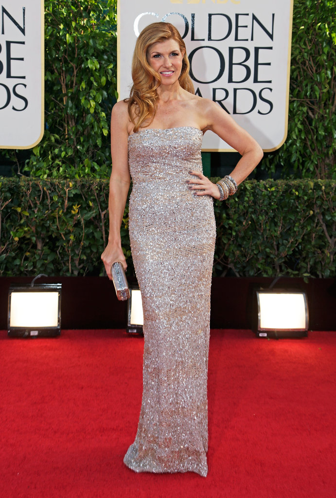 Connie Britton struck a pose for the cameras Sunday evening.