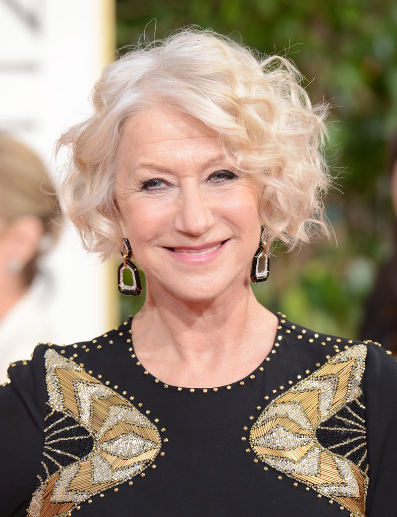 Helen Mirren smiled sweetly on the carpet for the 70th Annual Golden Globe Awards.