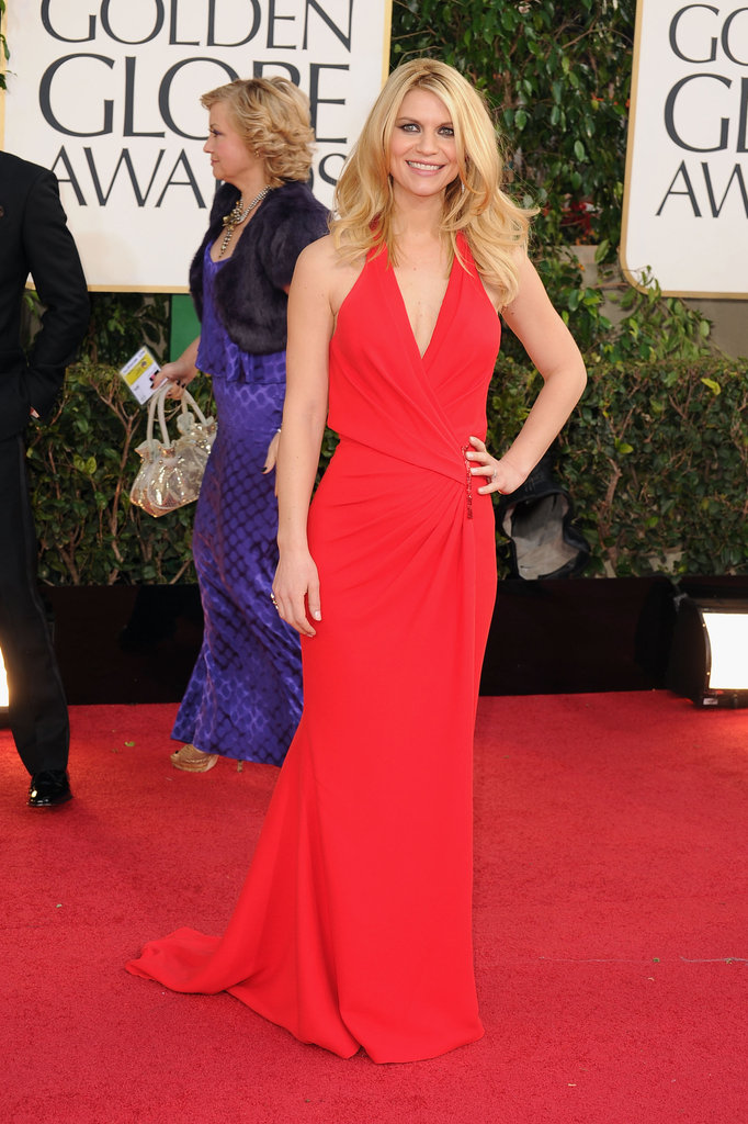 Claire Danes chose red Versace for the 2013 Golden Globes.