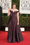 Lena Dunham waved before her big night at the 2013 Golden Globes.