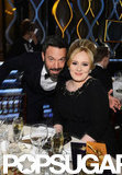 Ben Affleck posed with Adele at the Golden Globes.