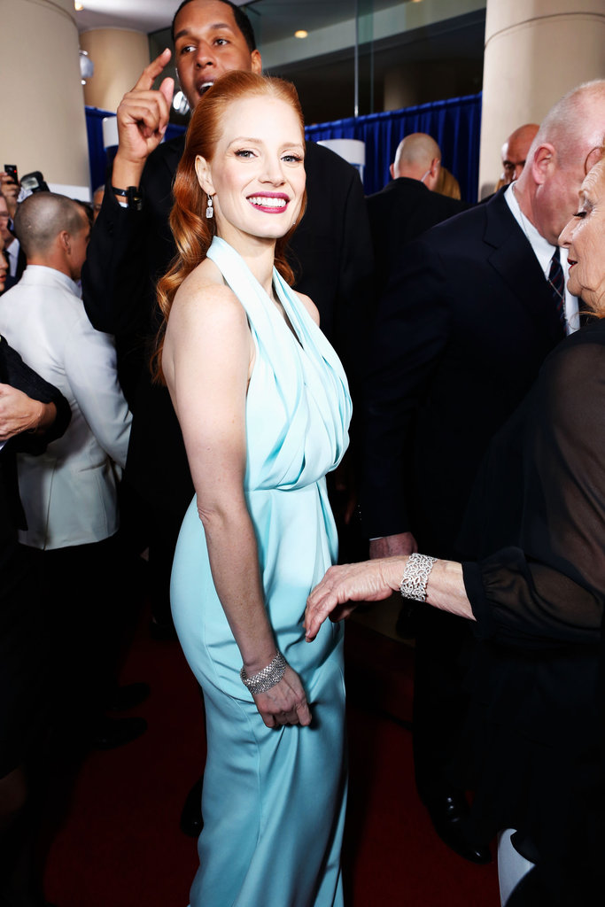 Jessica Chastain looked stunning at the 2013 Golden Globes.