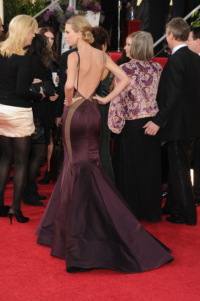Taylor Swift wowed in a backless Donna Karan Atelier gown.