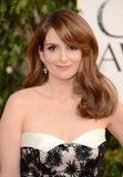 Tina Fey Shows a Bit of Ankle at the Golden Globes