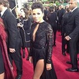 Eva Longoria showed lots of leg on the Golden Globes red carpet. Source: Instagram user goldenglobes
