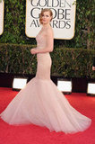 Amy Adams wore a Marchesa gown.