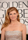 Nashville star Connie Britton smiled on the Golden Globes red carpet Sunday night, arriving early in the night.