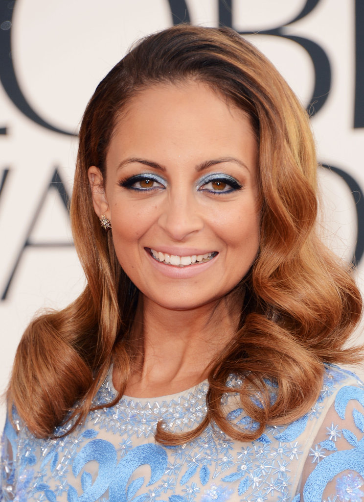 Nicole Richie matched her makeup with her pastel blue gown Sunday night.