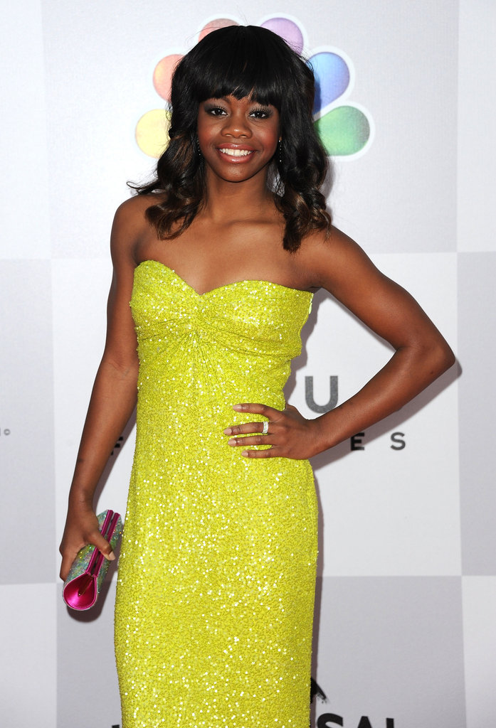 Gabrielle Douglas rocked a brightly coloured dress.