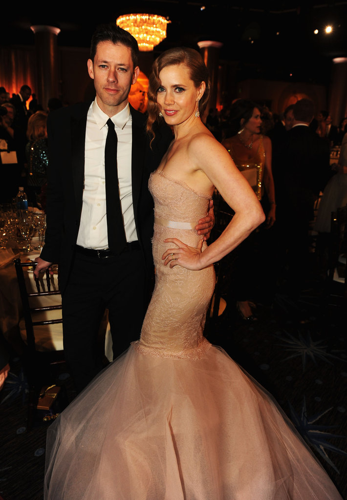 Darren Le Gallo and Amy Adams were at the Golden Globes.