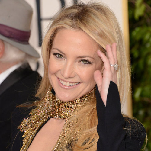Kate Hudson in Black at the Golden Globes 2013