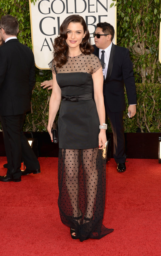 Rachel Weisz — mom of Henry, 6 — had some fun with her dress, wearing a polka-dot Louis Vuitton gown on the red carpet.