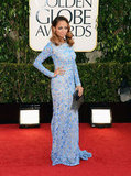 Nicole Richie sparkled in her pretty blue Naeem Khan dress.