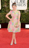 Ariel Winter kept it cute in a floral dress for the 2013 Golden Globes.