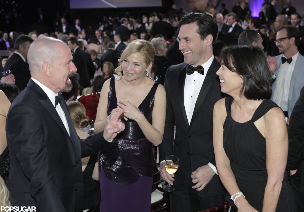 Bryan Cranston chatted with Jon Hamm and Jennifer Westfeldt during a break from the show.