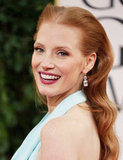 Jessica Chastain smiled big for the cameras Sunday night.