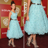 Nina Dobrev Golden Globes Party Fashion 2013