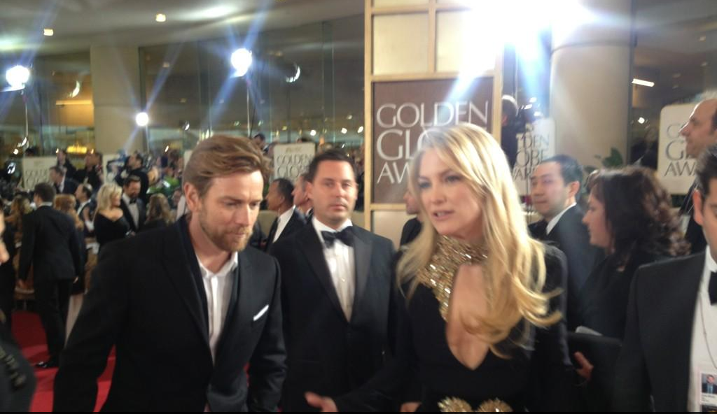 Kate Hudson looked hot in an Alexander McQueen gown at the Golden Globes.  Source: Instagram user goldenglobes