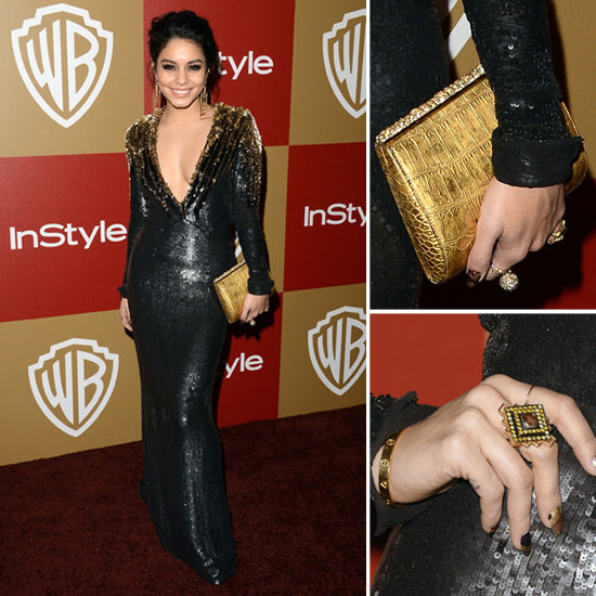 Vanessa Hudgens Golden Globes Party Fashion 2013