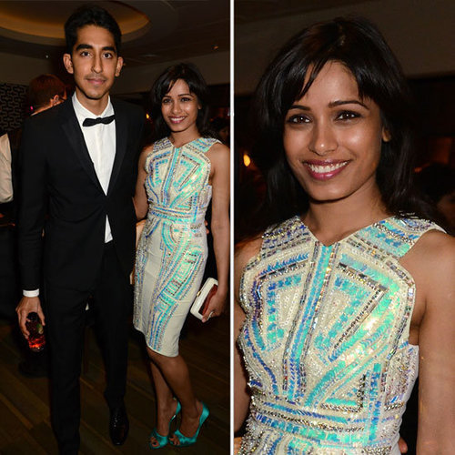 Freida Pinto Golden Globes Party Fashion 2013