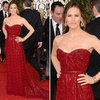 Jennifer Garner in red Vivienne Westwood 2013 Golden Globes