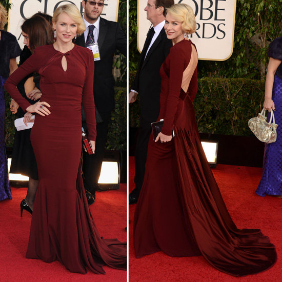Naomi Watts | Golden Globes Red Carpet Fashion 2013