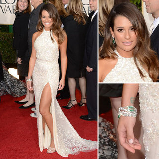 Lea Michele | Golden Globes Red Carpet Fashion 2013