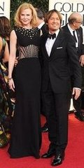 Nicole Kidman and Keith Urban(2013 Golden Globes Awards)