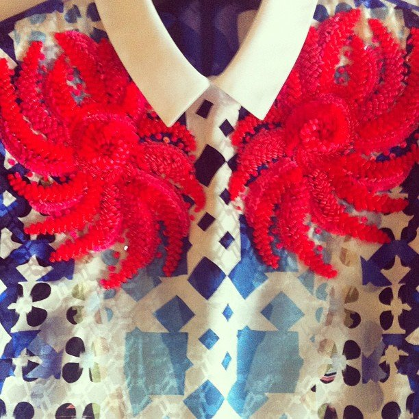 Detail on Kate Waterhouse's Peter Pilotto dress
