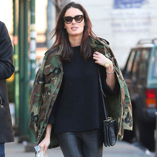Nicole Trunfio Wearing Camouflage Jacket