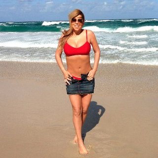 Mariah Carey Wearing Red Bikini | Pictures