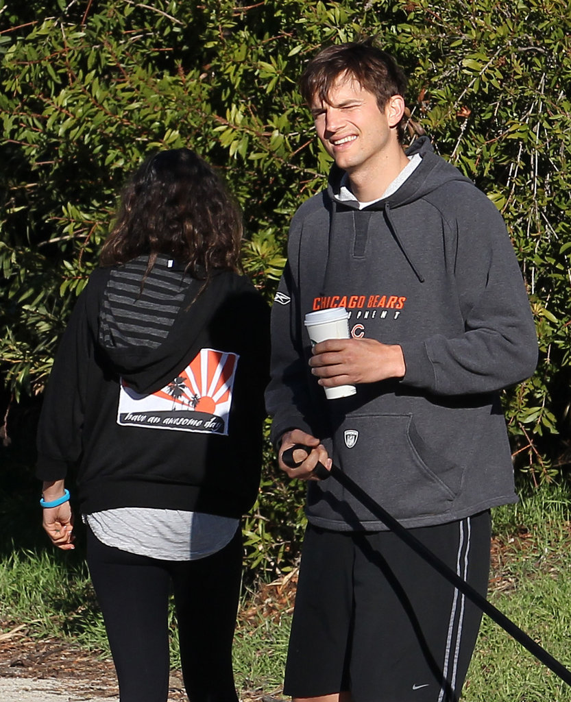 Ashton and Mila Return From Their Romantic Brazilian Getaway