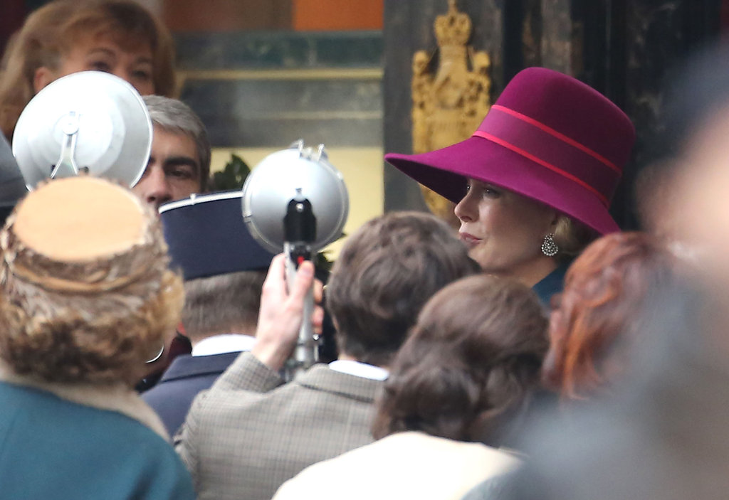 Nicole Kidman filmed a scene with paparazzi.