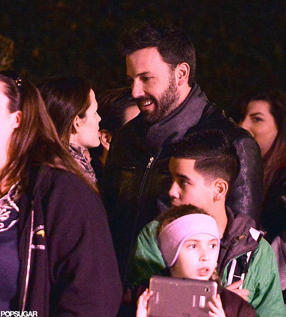 Jennifer Garner and Ben Affleck smiled at Disneyland.