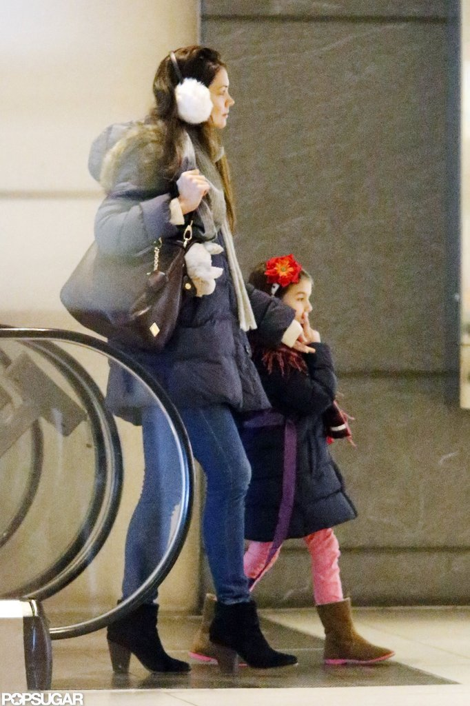 Katie Holmes and Suri Cruise enjoyed a nice day out in NYC.