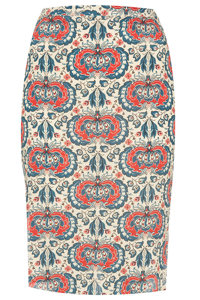 Make an impact, even at the office, with the high-wattage print on this Boutique Silk Sweet Print Zip Pencil Skirt ($140). All you need to complete the look is a polished white button-down to make the pattern really pop.