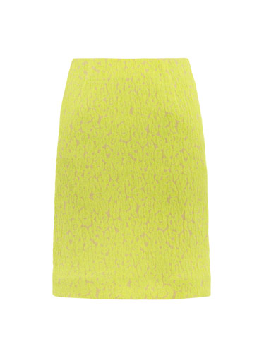 The lacy neon on this Preen Aurora leopard-jacquard pencil skirt ($647) could resuscitate any humdrum office ensemble.