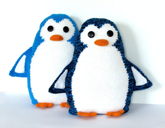 Crocheted Penguin Pals