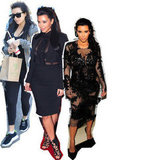 Black, Sheer and Body-Con: Kim Kardashian's Maternity Style