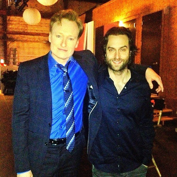 "Funny men Chris D'Elia and Conan O'Brien got together. It must have been a match because D'Elia said he had found his ""new best friend."" Source: Instagram user chrisdelia"