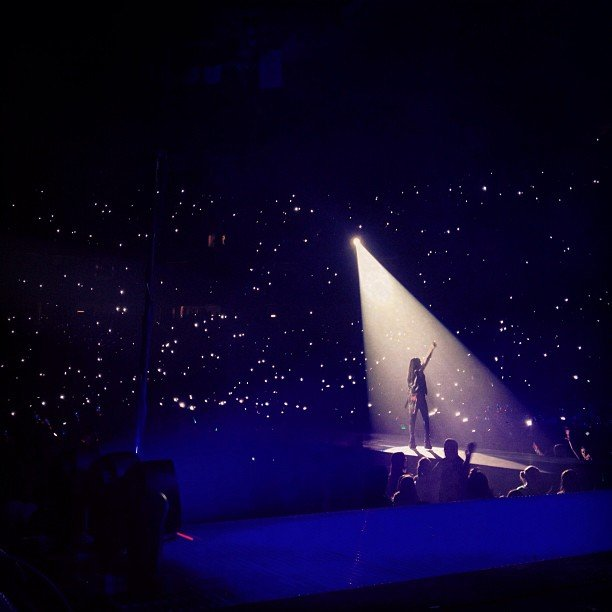 Carly Rae Jepsen posted an awesome shot of her performance in Denver.  Source: Instagram user carlyraejepsen