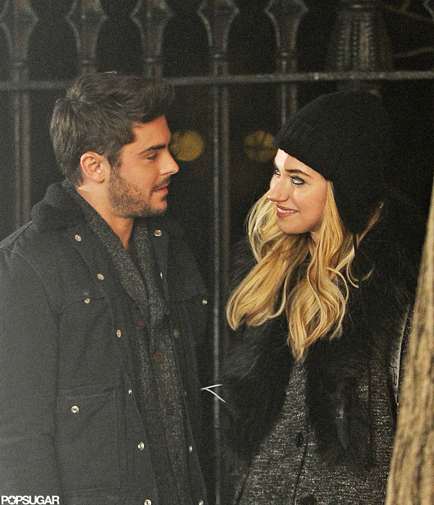 Zac Efron and Imogen Poots filmed a scene.