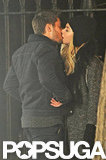 Zac Efron kissed costar Imogen Poots while they filmed a scene.
