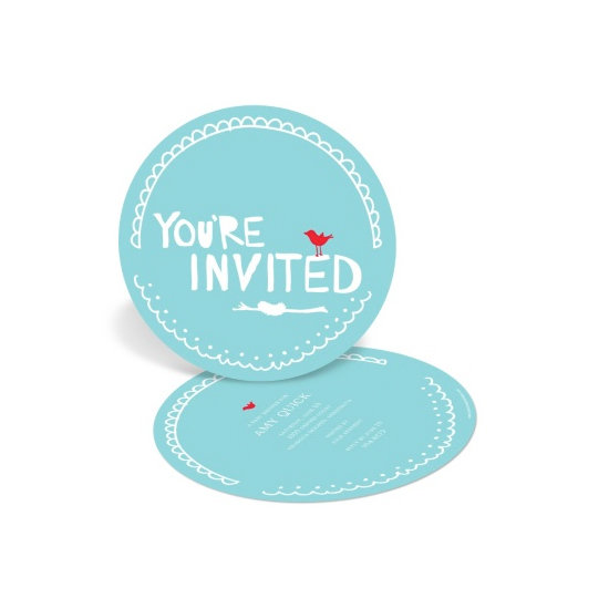 Nesting For Newborn's Arrival Invites