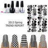 2013 Black and White Nail Trends
