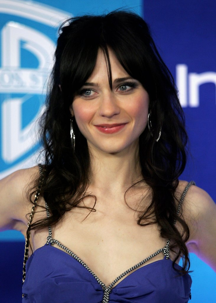 Then: Zooey Deschanel
