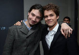 Ezra Miller and Johnny Simmons